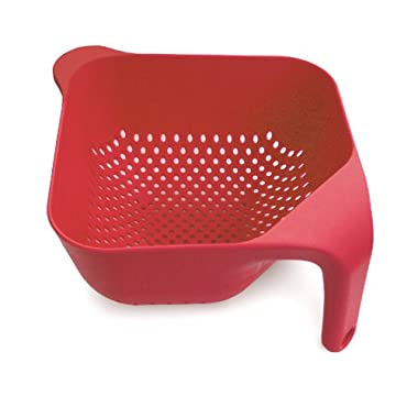 Joseph Joseph Large Square Colander, Red