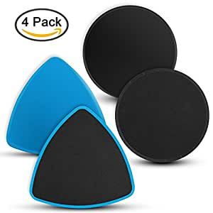 Core Exercise Sliders, VANWALK Gliding Discs Exercise Sliders, 4 Pack - Core Floor Sliders Dual Sided for All Surfaces