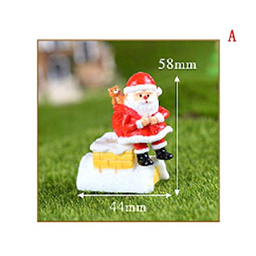 (Figurines Miniatures - Merry Christmas Day Gift Santa Claus Snowman Desk Small Statue Figurine Crafts Ornament Miniatures - Metal Figurines Miniatures Silver)