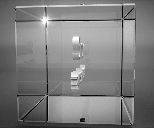 VIP-LASER 3D XL Glas Kristall mit verziertem Herz und Spruch F/ür die beste Oma der Welt Gravur