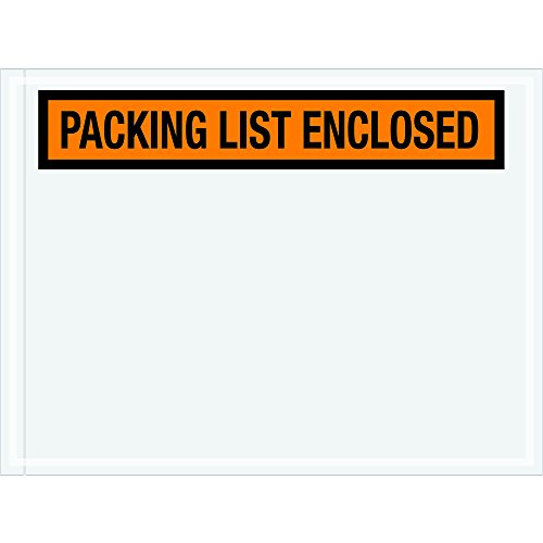Tape Logic TLPL442 Packing List Enclosed Envelopes, Panel Face, 4 1/2'' x 6'', Orange (Pack of 1000) by Tape Logic