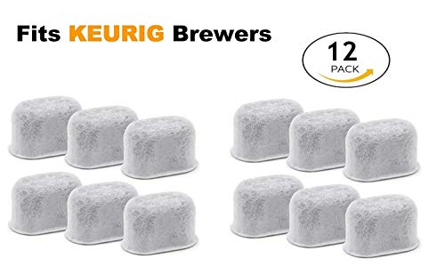 New Keurig Compatible Replacement Charcoal Water Filters for KUERIG Coffee Makers Universal - Easy to Replace and Remove - Purifying from Impurities and Improve Taste by ElloGreen (12 PACK)