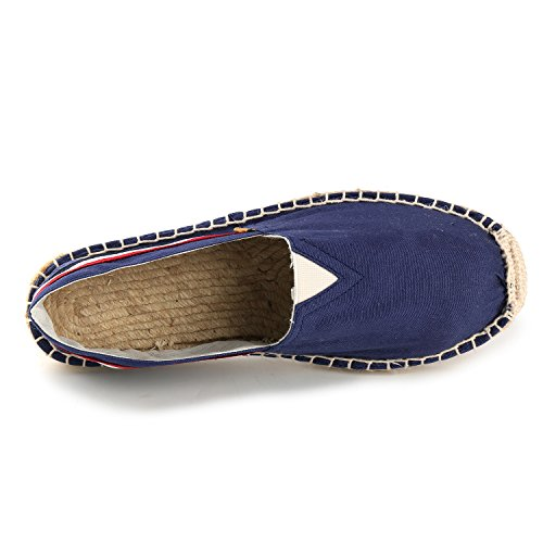 Rayées Flatform En Bleu Chaussures Toile Femme Alexis Leroy Espadrilles ISwZqEqY