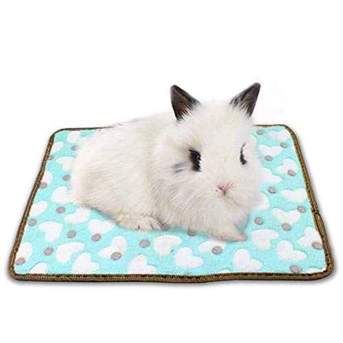 Guinea Pig Bed Winter Plush Warm Liner Sleeping Mat for Bunny Dwarf Hamster Chinchilla Hedgehog – Washable 13.8″ x 17.7″