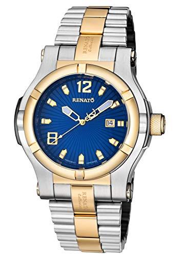 New Mens Renato T-Rex Swiss ETA 2824 Automatic 25 Jewel Blue Dial Watch