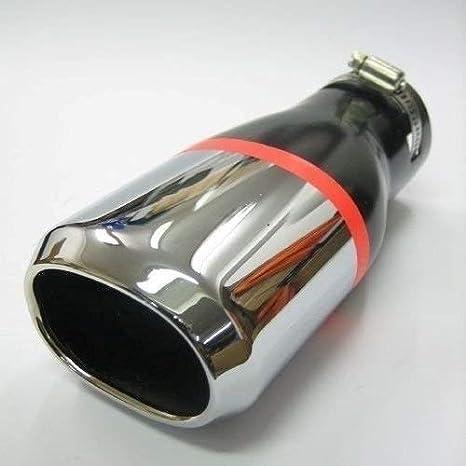 Autohobby 407 - Embellecedor de tubo de escape, universal, acero inoxidable hasta 55 mm de diámetro, cromado: Amazon.es: Coche y moto