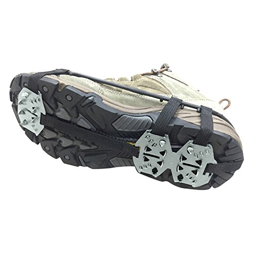 Od-sports 1 Pair 18 Teeth Unisex Multi-function Anti-slip Ice Cleat Shoe Boots Traction Crampon Chain Spike Non-slip for Climbing Walking Travel by Od-sports (Image #8)
