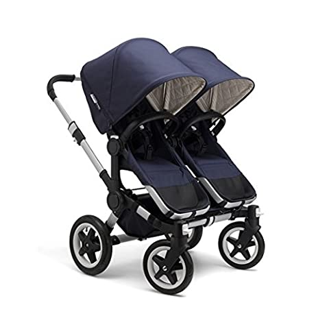 Bugaboo Donkey Twin Stroller Bundle, Classic Collection in Navy (Donkey Twin)