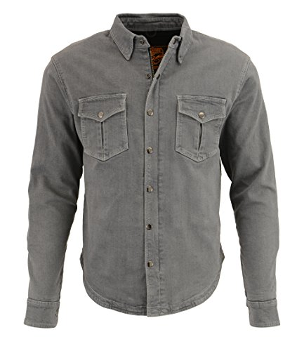 Milwaukee Performance Men's Denim Biker Shirt With Aramid (Grey, Medium)