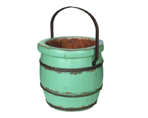 Antique Revival Vintage Sivas Barrel Bucket, Turquoise ()