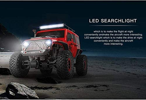 Zeyujie 2.4GHz 4WD terreinwagen, 1/10 afstandsbediening auto met borstel motor 15km / h snelle off-road truck met LED-koplampen en oplaadbare batterij (type: 1 batterij)