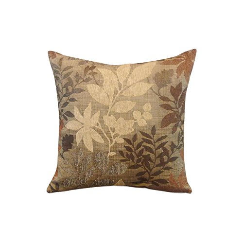 Arlee Bristol Chenille Jacquard Leaf Toss Pillow, (Arlee Pillow)