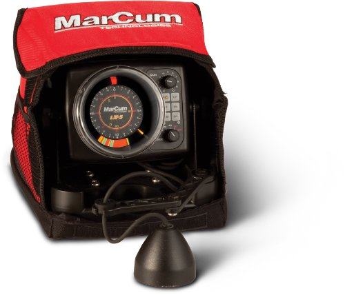 Marcum dual beam true color sonar flasher system lx 5 for Refurbished humminbird fish finders