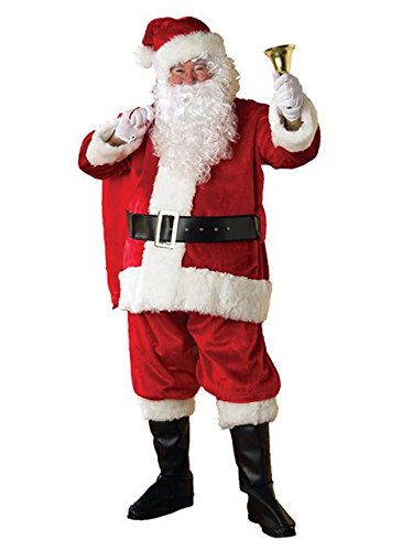 Rubie's Adult Regency Plush Santa Suit With Gloves, -