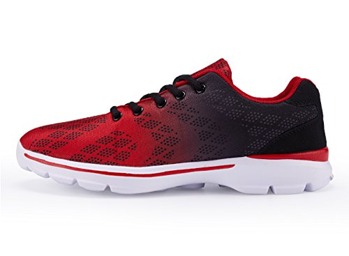 UMmaid Mens Tennis Schuhe Casual Leicht Sport Laufschuhe Walking Sneakers 1.red