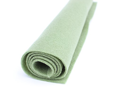 Loden Green Wool - Loden Green - Wool Felt Oversized Sheet - 20% Wool Blend - 3 12x18 inch sheets
