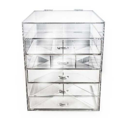 Acrylic Makeup And Cosmetic Storage Anizer 7 Drawers With Mirror  sc 1 st  The Latest Drawer Model Drawing & Cosmetic Storage Drawers - Best Drawer Model