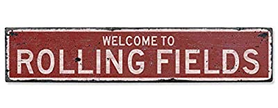 Welcome to Rolling Fields Vintage US Rolling Fields, Kentucky Distressed Custom Wooden City Sign Home Sign Decoration Wall Art Gardern Desk Plaque