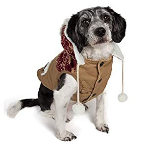 touchdog 'Snowadayz' Pom Pom Fashion Designer Pet Dog Coat Hooded Sweater Jacket Hoodie, Small, Red/Beige Click on image for further info.