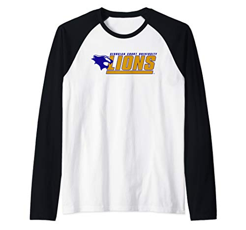 Georgian Court University Lions NCAA PPGCTU01 Raglan Baseball Tee ()