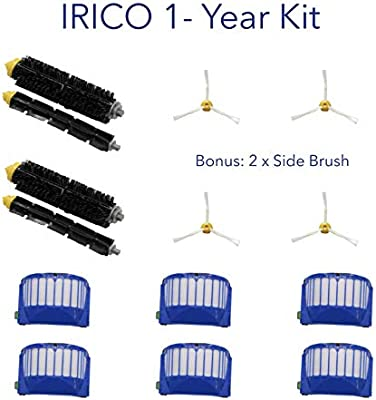 IRICO iRobot Roomba Replacement Parts AeroVac Filter 500 600 Series Vacuum Cleaner Accessories 12 AeroVac Filters for iRobot Roomba 595 614 620 630 650 660 671 680 690