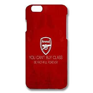 Iphone 6 ( 4.7 Inch ) Case 3D Arsenal Football Club Quote You Can'T Buy Class, Be Faithful Forever Durable Hard Plastic Cover