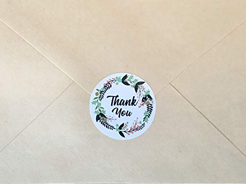 Ivy Paper Co Modern Floral Thank You Stickers | Roll of 1000 | 1.5'' Flower Envelope Sealers | Beautiful Circle Labels for Business, Gifts, Bridal, Thank You Cards Notes | Boho Gift Tags |Cute Stickers by Ivy Paper Co (Image #3)