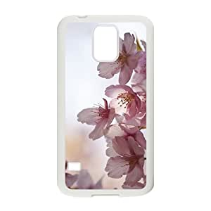 Beautiful cherry blossoms Unique Design Cover Case with Hard Shell Protection for SamSung Galaxy S5 I9600 Case lxa#473948