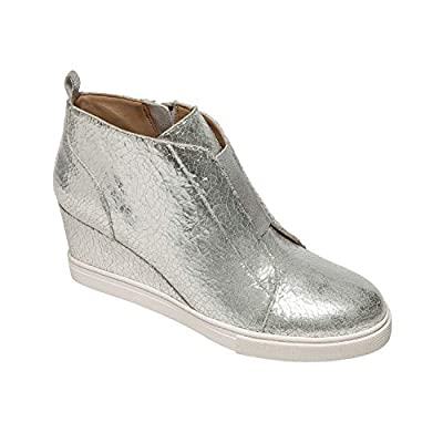 Linea Paolo - Felicia II - Our Original Platform Wedge Sneaker Bootie in Leather and Suede