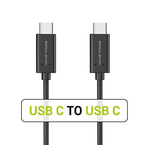USB Type-C to USB C 3.1 Cable, ZeroLemon 3.2ft[1Pack] Type C Fast Charger Cable for MacBook Pro, Galaxy S9 / S8 Plus Note 9 / 8, LG V30, Pixel 3 XL, 2018 iPad Pro 11 12.9 and More - Black
