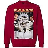 CLOTHINGFORFUN Postt Malone Christmas Funny Home Malone Adults Youth Sweatshirt