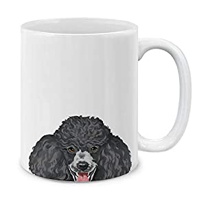 MUGBREW Black Standard Poodle Ceramic Coffee Gift Mug Tea Cup, 11 OZ 4
