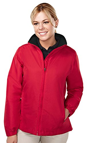Tri-mountain Women 100% polyester long sleeve jacket with water resistent . - RED/BLACK - XXXX-Large by Tri-Mountain