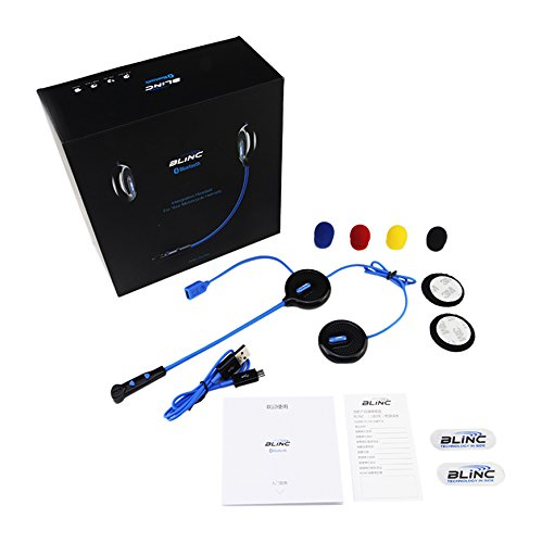 Blinc Unisex-Adult Full Face helmet (Black Bluetooth Communication, OS)