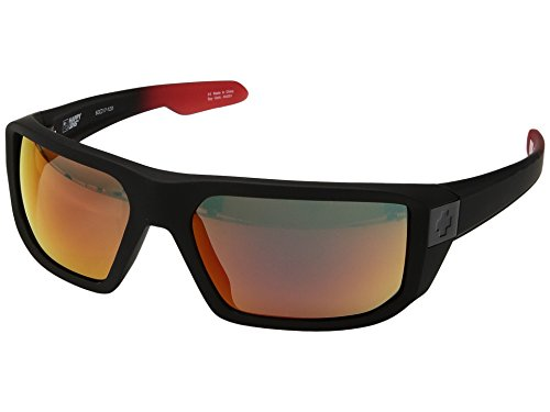 Spy Optic Unisex McCoy Mccoysoft Matte Black/Red Fade/Happy Gray/Green/Red Flash One - Custom Spy Sunglasses
