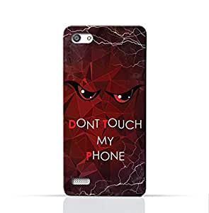 AMC Design Oppo A33 Mobile Protective Case with Don't Touch My Phone 3 Design - Red