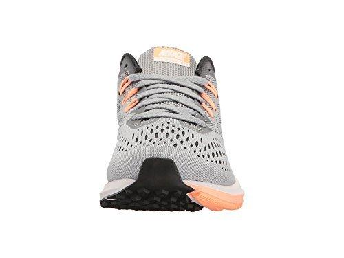Nike Womens Zoom Winflo 4 Løpesko Grå / Orange-m