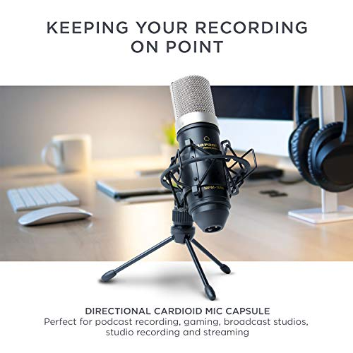 Marantz Pro MPM1000 - Studio Recording Condenser Microphone with Shockmount, Desktop Stand and Cable – Perfect for Podcasting and Voiceover Projects