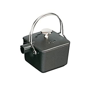 Staub 1/2-Quart Square Teapot, Black