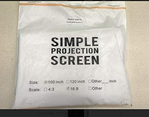 Pantalla para proyector para Colgar con argolla, Ideal para Cine ...