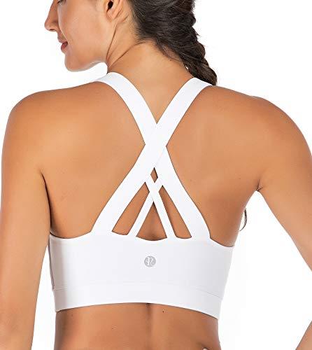 RUNNING GIRL Sport-BH für Damen, überkreuzter Rücken, gepolsterte Riemen, Sport-BHs, mittlere Unterstützung, Yoga-BH mit…