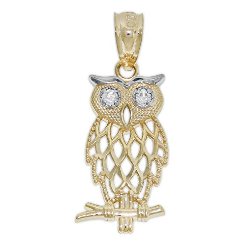 Charm Gold Owl Charm With...