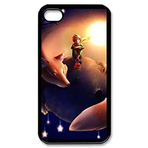 Customize Cell Phone Case iPhone 4 4s Case Cover Black Cartoon The Little Prince 12QW4690176