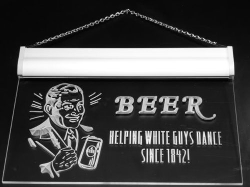 Multi Color j306-c Beer Helping White Guys Dance Bar Neon LED Sign with Remote Control, 20 Colors, 19 Dynamic Modes, Speed & Brightness Adjustable, Demo Mode, Auto Save Function