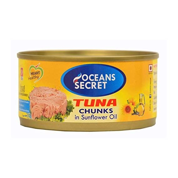Oceans Secret - Canned Tuna in Sunflower Oil, 180g (Pack of 2)