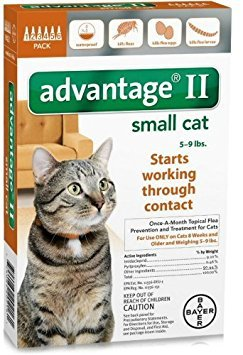 Advantage II Once-A-Month Topical Flea Treatment for Cats & Kittens up to 9 Lbs (6 Applications) by Bayer Animal Health