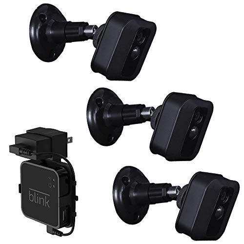 3pack Koroao Wall Mount Bracket Ceiling Bracket, Adjustable Indoor and  Outdoor 360 Degree Swivel for Blink XT Home Security Camera System,Come  with a