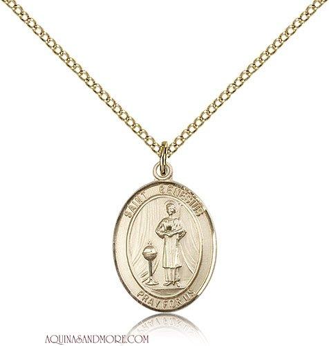 UPC 617759893670, St. Genesius of Rome Medium Gold Filled Medal