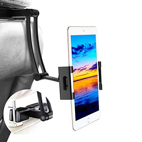 Car Headrest Mount, Sawake Headrest Tablet Mount, Universal Tablet Holder for Car Backseat, for 5