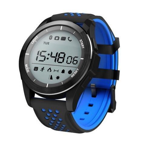 Kktick F3 Smart Watch Bracelet IP68 waterproof Smartwatch Outdoor Mode Fitness Tracker Reminder Wearable Devices - Blue